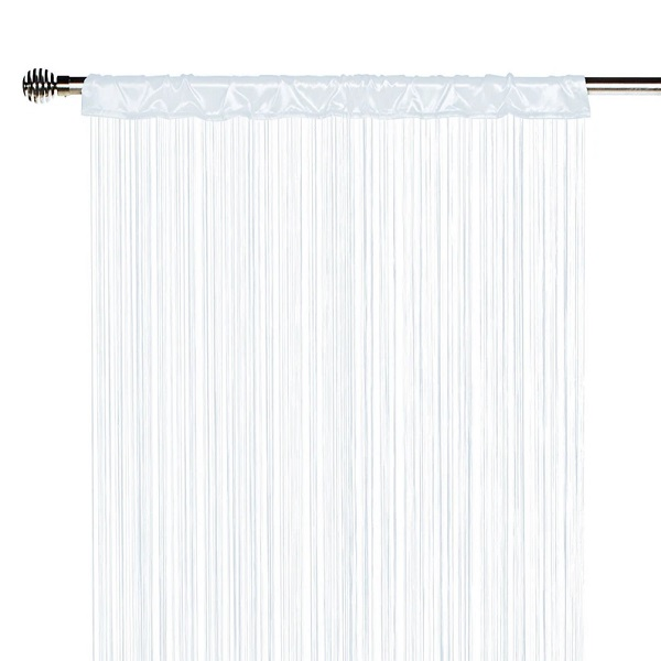 rideau fil spaghetti blanc 70 cm 180 cm