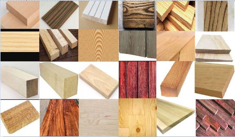 أنواع الأخشاب الطبيعية