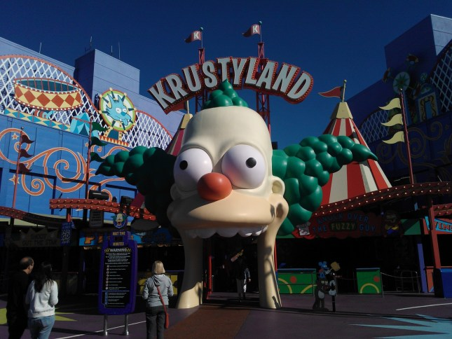 Krustyland! - home of the Simpson's Ride