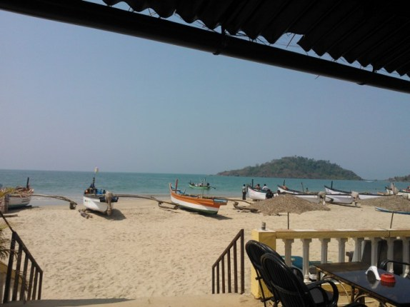 The beautiful Palolem beach in south Goa