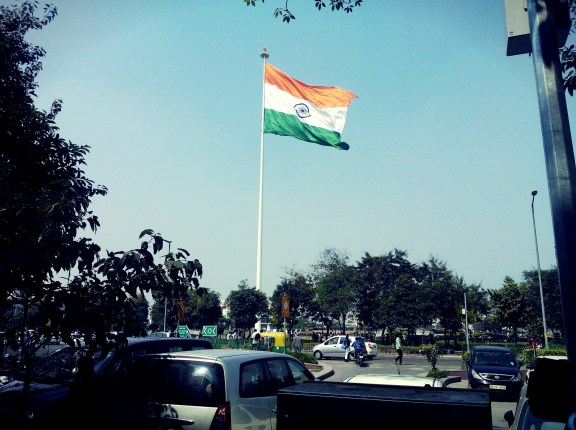 The tricolour at the central park in cp in #Delhi caught the fancy of young and old, rich and poor alike. Soft Power.