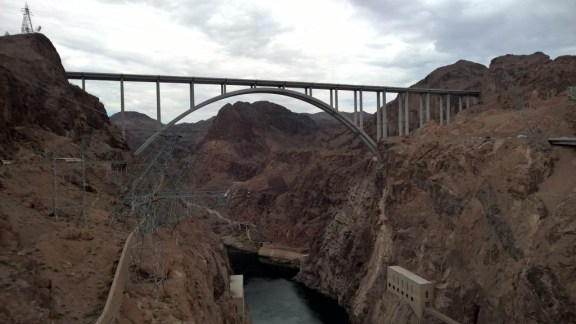 Mike O'Callaghan–Pat Tillman Memorial Bridge spanning the Colorado