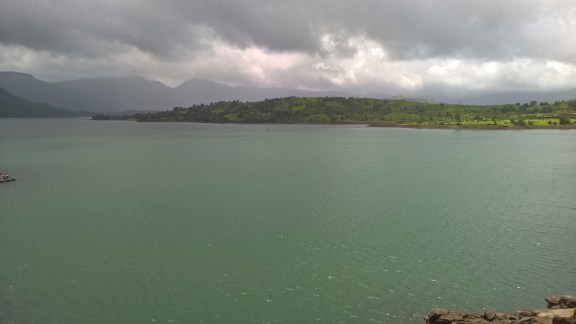 Lake created by the Bhandardara Dam