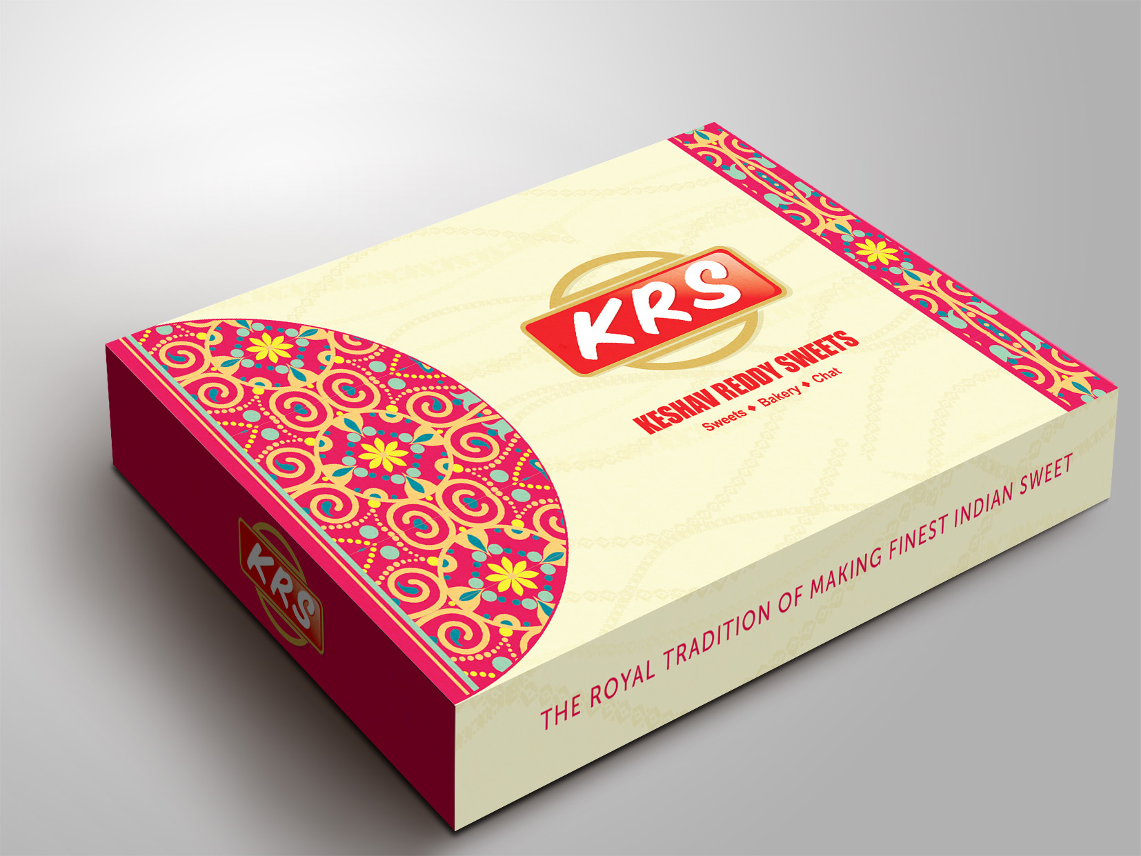 krs sweet box packing creative and traditional indian mithai
