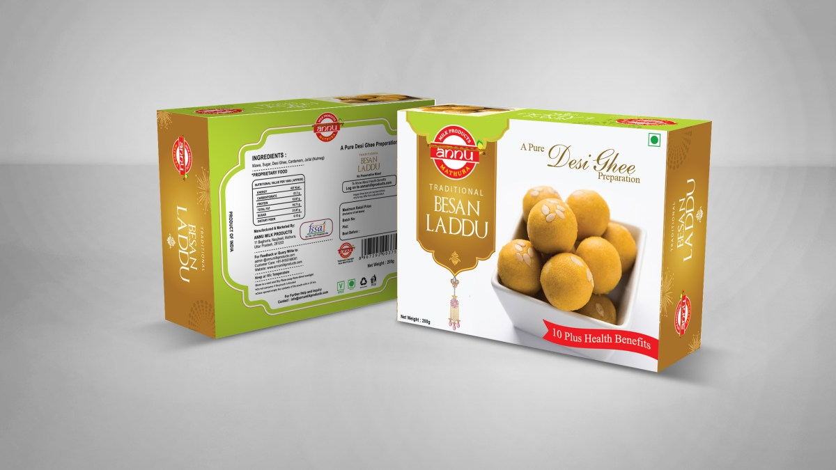 mathura based sweets product design , branding , fmcg packaging , design india 2