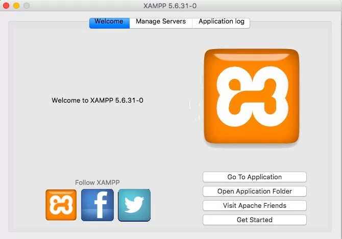 XAMPP Welcome Screen