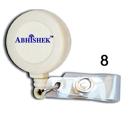 White Retractor for id card in Regular thread quality in Round shape for executive, professional and business use. It can also be hanged along with the belt