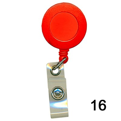 Red Retractor for id card in Nylon thread quality in Round shape for executive, professional and business use. It can also be hanged along with the belt