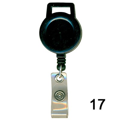 Black Retractor for id card in Nylon thread quality in Round shape for executive, professional and business use. It can also be hanged along with the belt