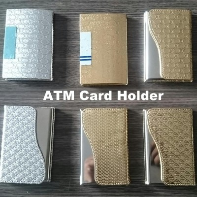 ATM Card Holder Available in plastic body, golden and silver finishing with amazing looks that defines your personality