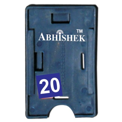 Double Hole Insert Holder of size 54x86 mm in Blue Colour and Both OrientationIt is ideal for business, schools and organization for all there ID card needs. Not only it protects the keep the id cards safe but also provides high branding value and person