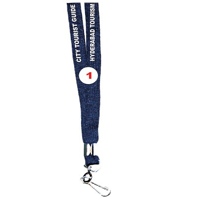 Navy Blue Colour Sleeve Tags with Hook Attachement type. 16 Inches in Length and 12 mm wide. Printable with multiple colours with custom logo and names