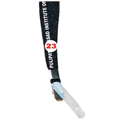 Black Colour Sleeve Tags with Clip Attachement type. 16 Inches in Length and 12 mm wide. Printable with multiple colours with custom logo and names