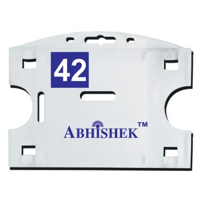 Double Hole Insert Holder of size 54x86 mm in White Colour and Horizontal OrientationIt is ideal for business, schools and organization for all there ID card needs. Not only it protects the keep the id cards safe but also provides high branding value and