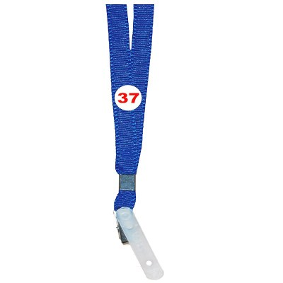 Light Blue Colour Flat Tags with Clip Attachement type. 16 Inches in Length and 14 mm wide. Printable with multiple colours with custom logo and names
