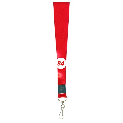 Red Colour Shine Tags with Hook Attachement type. 16 Inches in Length and 20 mm wide. Printable with multiple colours with custom logo and names