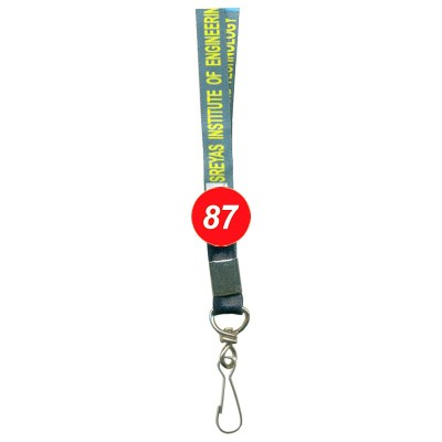 Multi Colour Colour Multi Colour Tags with Regular Hook Attachement type. 16 Inches in Length and 12 mm wide. Printable with multiple colours with custom logo and names
