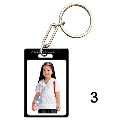 Black key chain of size 27x40.5 mm in Rectangle  shape designed for id card holder, company event or school custom logo. Fully customizable and personalized with thousands of designs and prints  You may also refer keychains as ket tags, key rings, id car