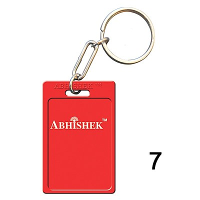 Red key chain of size 27x40.5 mm in Rectangle  shape designed for id card holder, company event or school custom logo. Fully customizable and personalized with thousands of designs and prints  You may also refer keychains as ket tags, key rings, id card