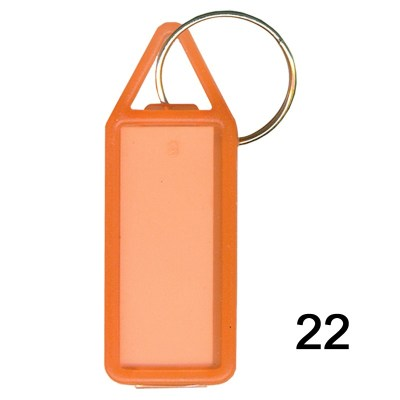 Orange key chain of size 17x41 mm in Rectangle  shape designed for id card holder, company event or school custom logo. Fully customizable and personalized with thousands of designs and prints  You may also refer keychains as ket tags, key rings, id card