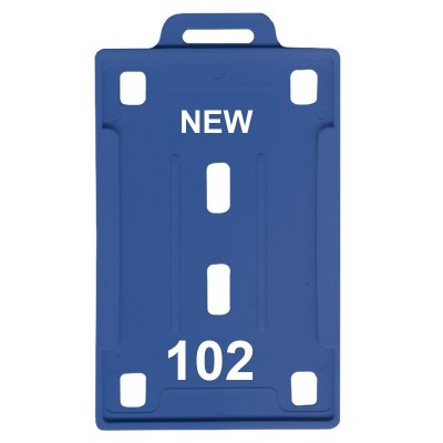 Insert Holder of size 54x86 mm in Blue Colour and Vertical OrientationIt is ideal for business, schools and organization for all there ID card needs. Not only it protects the keep the id cards safe but also provides high branding value and personalizatio