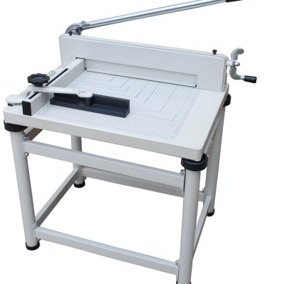 Paper cutter Office Supply Cutting size :43 cm,Cutting capacity :400sheets 70g paper,Packing :1,Measure :76x54x28.5 cm Stand,Measure :57x49.5x11 cm