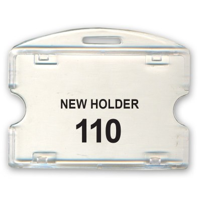 Crystal Holder of size 54x86 mm in Transparent Colour and Horizontal OrientationIt is ideal for business, schools and organization for all there ID card needs. Not only it protects the keep the id cards safe but also provides high branding value and pers