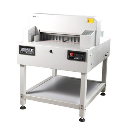Electrical paper cutter Office Supply Cutting size :560 mm/650 mm/720 mm,Cutting thickness:60 mm/80 mm,Cutting precision:0.3 mm,Pressing paper/pushing paper :Hydyaulice/Auto,Power :1.5KW/2.2KW AC200V(110V)00% 50Hz(60Hz),Net weight :200kg/350kg/450kg,Meas