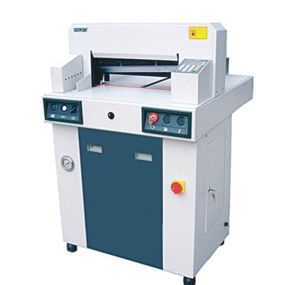 Hydraulic programing paper cutter Office Supply Cutting size : 480 mm/670 mm,Cutting thickness : 60 mm/80 mm,Cutting precision :0.3 mm,Pressing paper/pushing paper :Hydyaulic/Auto,Power :1.5KW/2.2KW AC200V(110V)00% 50Hz(60Hz),Net weight : 350kg/450kg,Mac