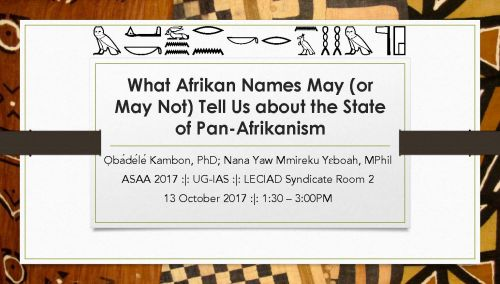 What Afrikan Names May (or May Not) Tell Us about the State of Pan-Afrikanism