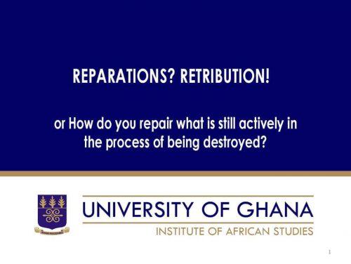 Reparations? Retribution!