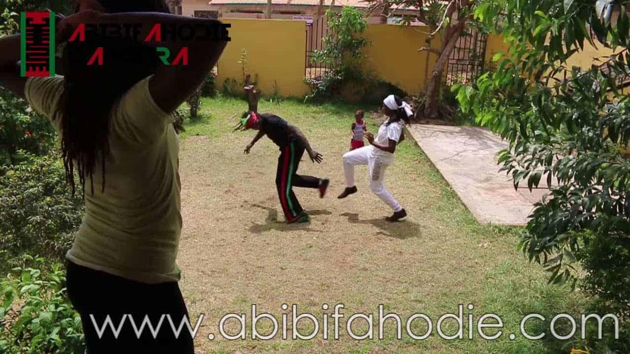 Abibifahodie Asako - Afrikan Combat Capoeira post-class light sparring