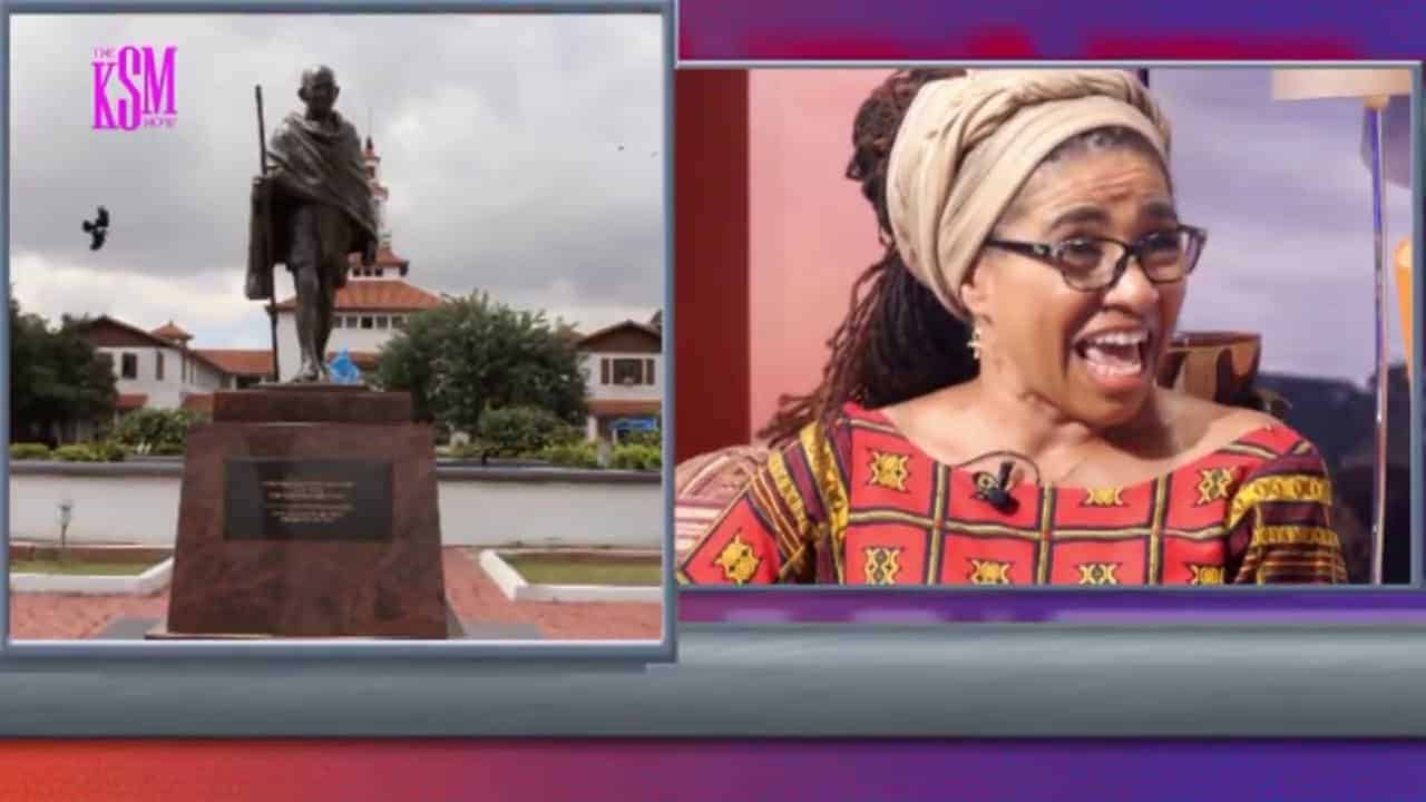 Gandhi Statue is STILL Here at UG!! #GandhiMustFall's Prof. Adomako Ampofo