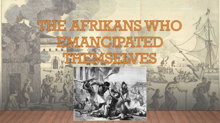 kambon afrikan who emancipated themselves
