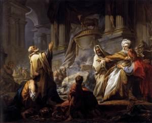 Jeroboam Offering Sacrifice by Jean Honoré Fragonard