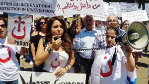 Assyrian Christians Arabic N protest