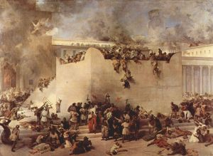 Destruction of the Temple of Jerusalem by Francesco Hayez