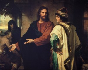 Christ and Rich young ruler by Heinrich Hofmann