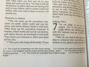 Matthew 613 footnote