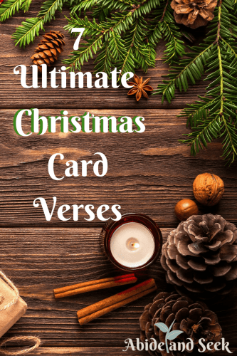 Christmas Card Verses.7 Ultimate Verses For Christmas Cards Abide And Seek