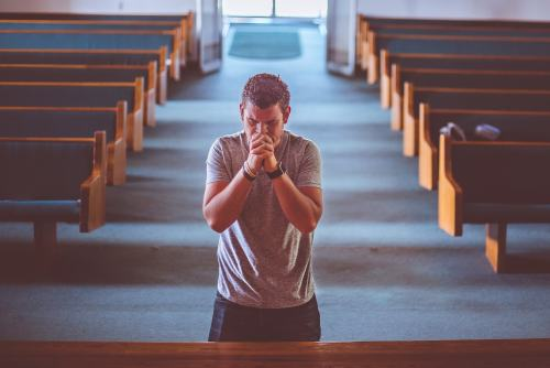 Man praying picture.