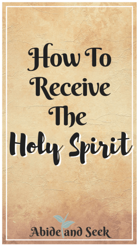 How To Receive The Holy Spirit Abide And Seek