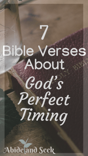 7 Bible Verses About Gods Perfect Timing Abide And Seek