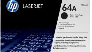 HP 64A Black Original LaserJet Toner Cartridge.