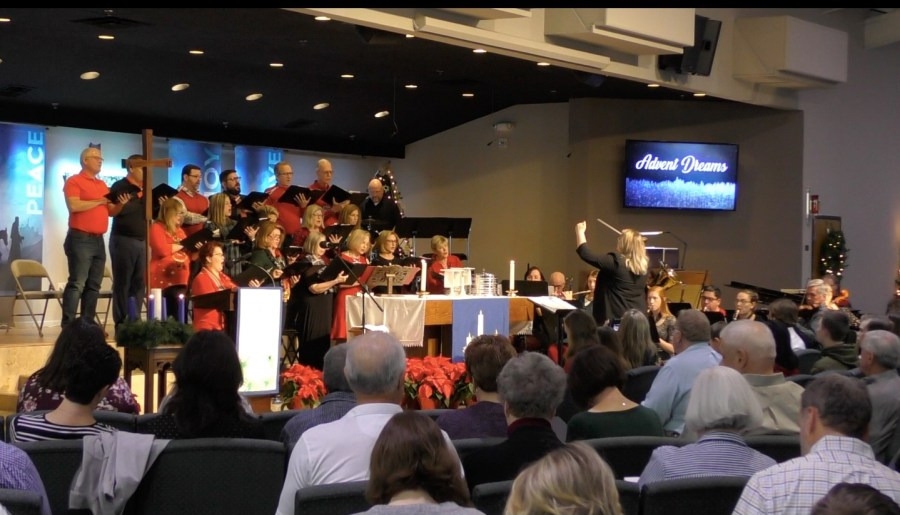 Vanessa directs the Choir and Ensemble   Abiding Grace Lutheran Church