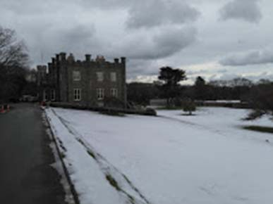Image of the Isle of Man Nunnery, the office of ability6® on a snowy day
