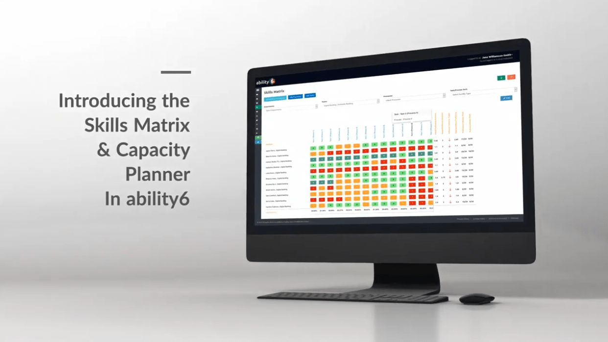 introducing the ability6 skills matrix and capacity planner