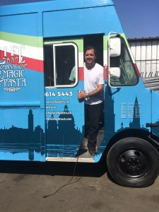 Chef Mirko ready to take pasta trucks out onto the streets of Los Angeles (photo courtesy of Chef Mirko)