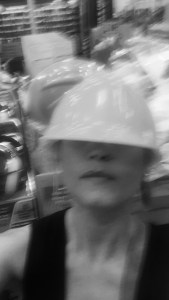 Need to stay more focused..this hard hat too big for sure..may be I will try another and a better selfie..