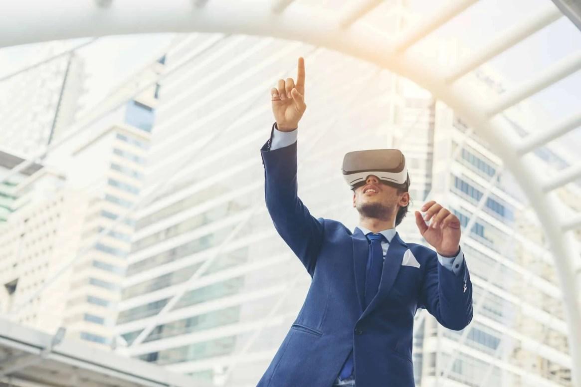 virtual reality goggles.